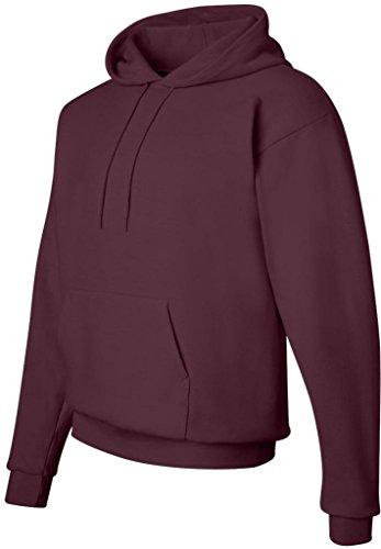 - Hanes Men's ComfortBlend EcoSmart Pullover Hoodie Sweatshirt, Maroon, Small
