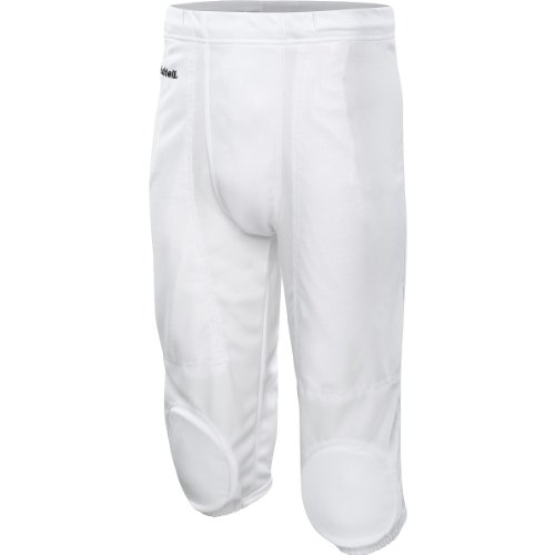 RIDDELL Adult Integrated Knee Practice Football Pants - Size: Medium, White (Practice Football Pants)