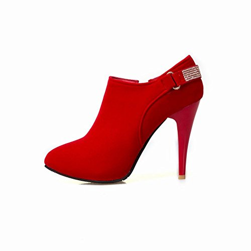 Boots Women's Dress Rhinestones Elegant Ankle Carolbar Red nOAq0XqI