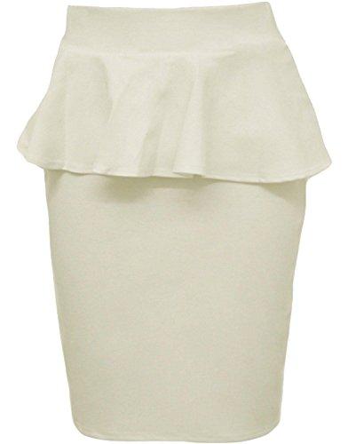 Nouveau Femmes Plus Size Peplum Jupe moulante Jupes crayon 36-50 Crme