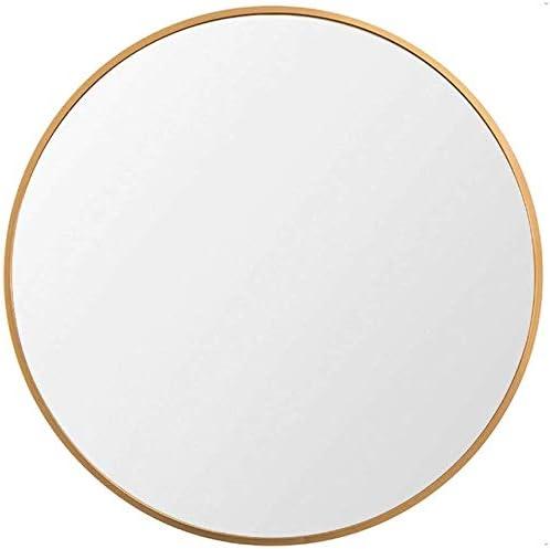 Beauty4U Large Round Metal Frame Mirror, 31.5 Wall-Mounted Mirror for Bedroom, Bathroom, Living Room, Entryway, Vanity Mirror, Gold