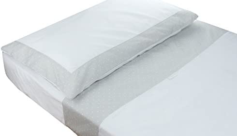 Kidz Kiss Petit Dots Grey Premium Cotton 3 Piece Cot Sheet Set