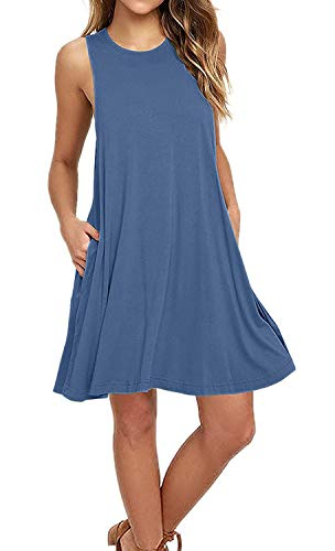 Women's Sleeveless Casual Swing Flowy Sundresses