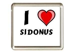"Iman de nevera con estampado ""Te quiero"" Sidonus (nombre de pila/apellido/apodo)"