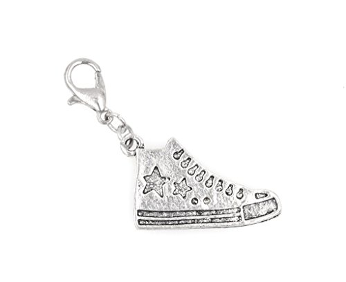 Tennis Shoe Running Shoe Clip On Charm Perfect for Necklaces and Bracelets (ZC 99Ah)
