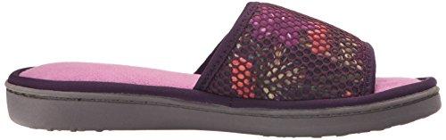 Dearfoams Womens Active Mesh Gore Slide Slipper Dark Purple
