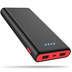 2019 Latest Design Portable Phone Charger Power Bank with 25800mAh Ultra-Huge Capacity ---For use on the go anywhere anytime! Make sure your smart devices always connected with it all the time! ★More performs in safety efficiency and compatib...