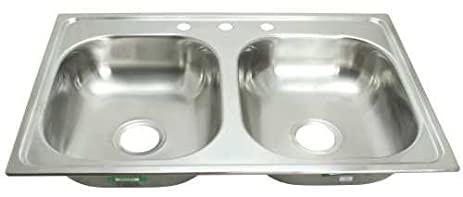 proplus gidds 2474255 3 hole double bowl kitchen sink for mobile homes 20 proplus gidds 2474255 3 hole double bowl kitchen sink for mobile      rh   amazon com