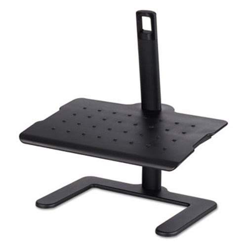 Safco Height-Adjustable Footrest, 20 1/2W X 14 1/2D X 3 1/2 to 21 1/2H, Black by Safco