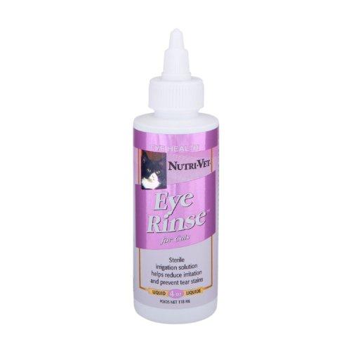 Nutri-Vet Eye Rinse Liquid for Cats, 4-Ounce