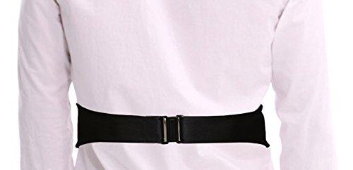 Remo Sartori Made in Italy Mens Black Silk Cummerbund Tuxedo Belt /& BowTie Set Silk