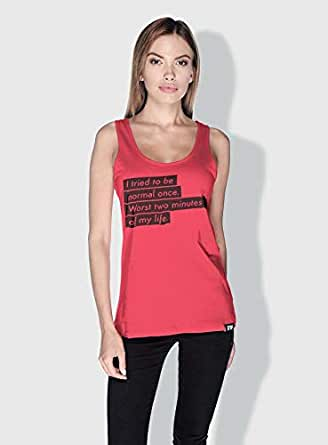 Creo I Tried To Be Normal Once Funny Tanks Tops For Women - L, Pink