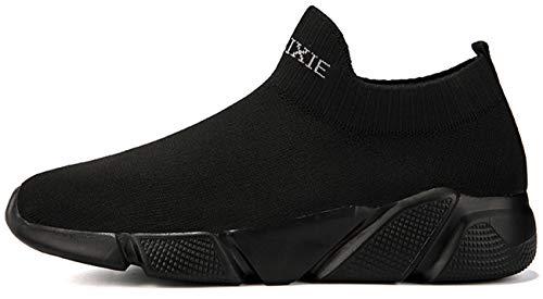 NEWCOLOR Confort Baskets Mocassins Mode Formateurs Slip Couple Chaussures Haut on Marche Unisexe Gym Tricot Bas 14qx1rT8