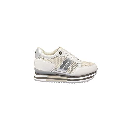 (Apepazza Shoes Woman Low Sneakers with Internal Wedge RSD30 / NET RICCARDA Bianco Size 39 White )