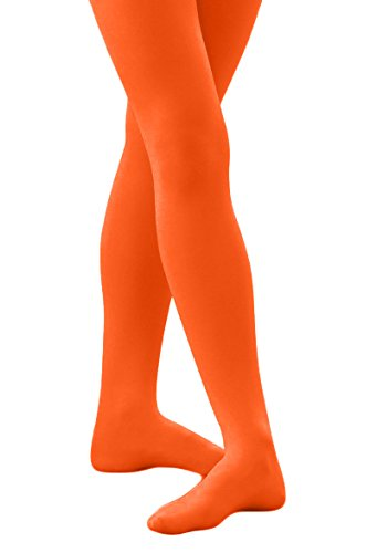 Childerns Solid Colored Seamless Footed Tights