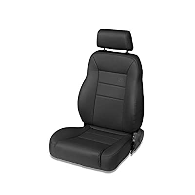 Bestop 39450-01 TrailMax II Pro Black Crush All-Vinyl Front High Back Passenger-Side Jeep Seat for 1976-2006 Jeep CJ and Wrangler: Automotive
