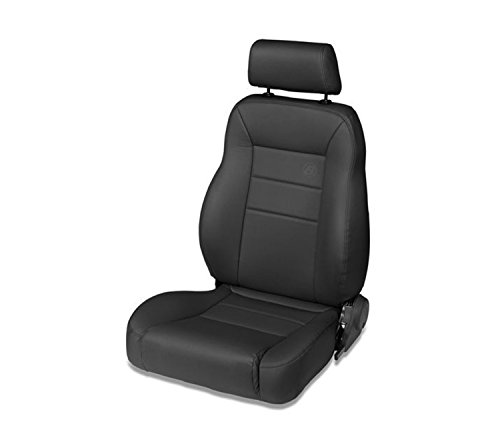 Bestop 39451-01 TrailMax II Pro Black Crush All-Vinyl Front High Back Driver-Side Jeep Seat for 1976-2006 Jeep CJ and Wrangler ()
