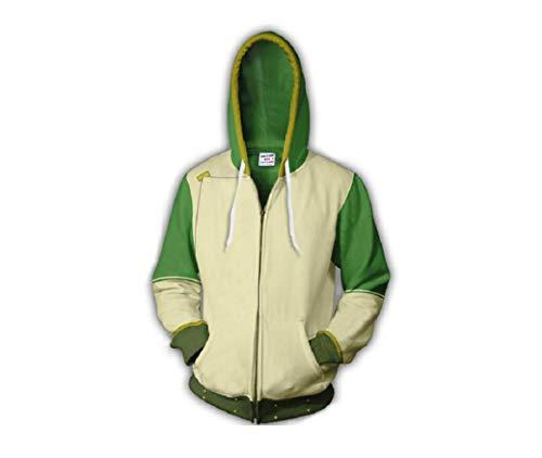 Dahee Aang Cosplay Men Hoodie Halloween Cosplay Sweatshirt Sweater for Halloween Christmas (XL, Green)