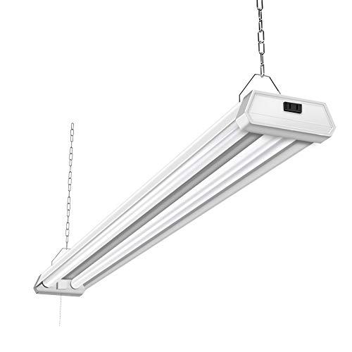 (42W Linkable LED Shop Light for Garage BBOUNDER 4FT 5000K Daylight Super Bright Garage Light Surface and Hanging Mounting for Warehouse Basement Garage Workbench Recreation Room (1Pack))