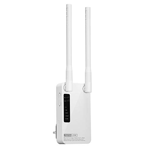 TOTOLINK AC1200 Wi-Fi Range Extender | Up to 1200Mbps| Dual Band, Repeater, Internet Booster, Access Point | Extend Wireless Signal to Smart Home & Alexa Devices (EX1200M)