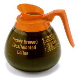 Bloomfield Orange Decanter - BLOOMFIELD, DECANTER COFFEE DECAF ORANGE 12X9.25 CUP 3 CO, Manufacturer Part Number: 8913