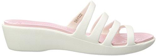 Crocs Rhonda Wedge Pump Oyster / Pearl Pink