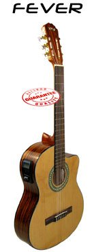 Fever Acoustic Electric Classical Guitar with Onboard Tuner SL-2070C