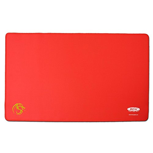BCW Red Play Mat with Stitched Edging
