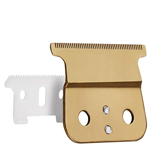 Price comparison product image Professional T-Outliner Blades Trimmers / Clippers Replacement Ceramic Blades 04521 Design for Andis Trimmer, Gold