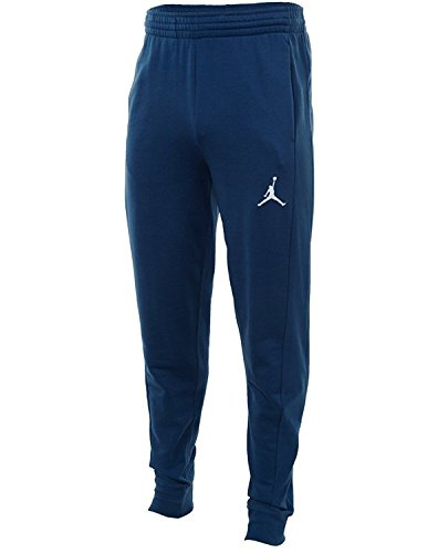 Price comparison product image Nike Mens Jordan Flight Basketball Ribbed Cuff Sweatpants Midnight Navy/White 823071-410 Size X-Large