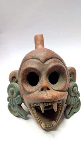 whistle of death ungle monkey Mictlantecuhtli, god of the dead, for halloween Mexican pre-Hispanic Aztec crafts]()