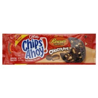 Nabisco, Chips Ahoy! Chewy Reese's Peanut Butter Cup, Chocolate Cookies, 9.5oz Bag (Pack of 3) by Nabisco