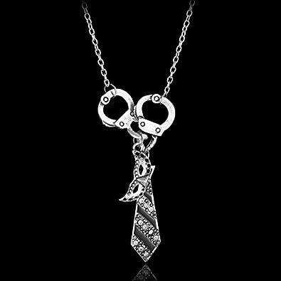 CLEARNICE Collar de Hombre 50 Cincuenta Sombras De Gris Encanto ...