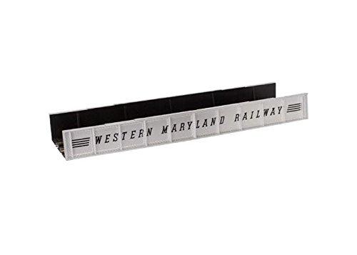Decorated Plate Girder Bridge w/Code 100 Track -- Western Maryland (silver, - Plate Girder Atlas