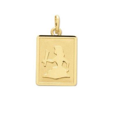 VIERGE - Médaille Zodiaque - Or 18 carat - Hauteur: 14 mm - Largeur: 12 mm - www.diamants-perles.com