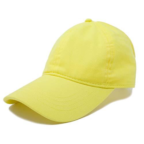 DALIX Ladies Ponytail Cap Womens Half Visor with Adjustable Elastic Band (Minion Yellow) ()