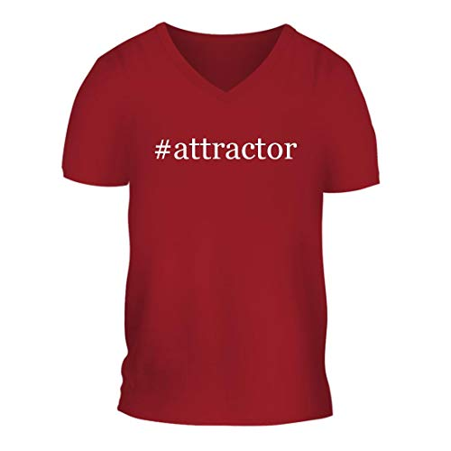 #Attractor - A Nice Hashtag Men's Short Sleeve V-Neck T-Shirt Shirt, Red, Large