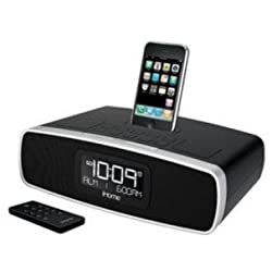 iHome iP90 Dual Alarm Clock Radio AM/FM Presets & Dock for iPod and iPhone (Not Compatible w/ iPhone 5) (Black)