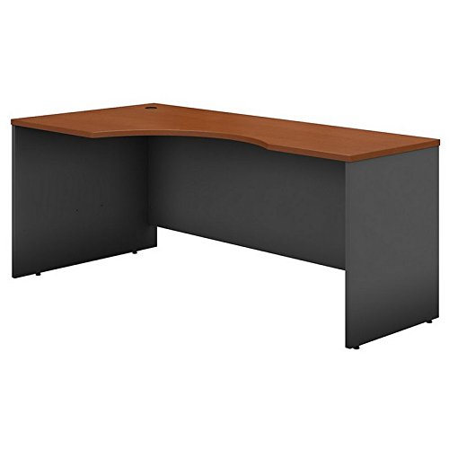 Bush Business Furniture Series C 72W Left Handed Corner Desk in Auburn Maple