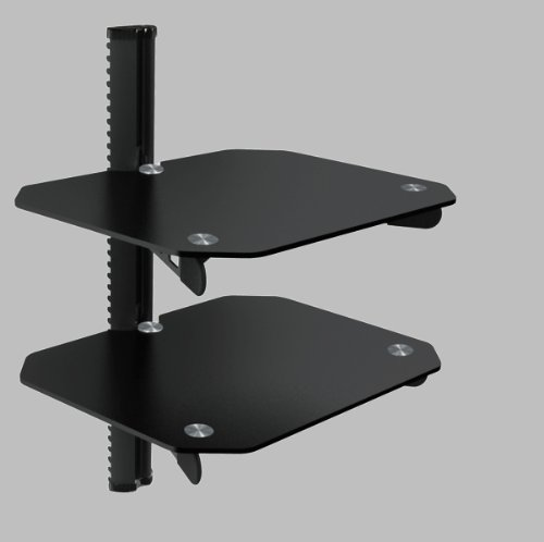 OSD Audio DVD-Shelf-3B Dual Shelf Wall Mount for DVD and Other A/V Components