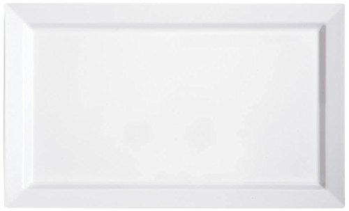Yanco OK-7021 Osaka-2 Display Plate, Rectangular, 21'' Length, 13'' Width, Melamine, White Color, Pack of 6 by Yanco (Image #1)