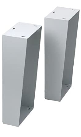 "Rittal 8018408 Light Grey 12 Gauge Carbon Steel Floor Stand Kit For 18"" Height x 12"" Depth AE/WM Wallmount Enclosures, 5-33/64"" Width x 12-1/64"" Height x 8-63/64"" Depth"