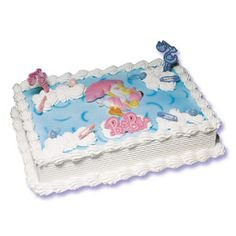 Baby Shower Pink Girl Stork Cake ()