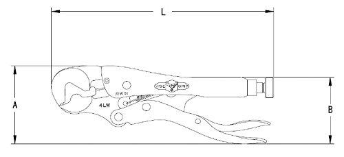 Spannbereich 7 Irwin 08 Vise Grip 4LW Maul-Gripzange 100mm 14mm