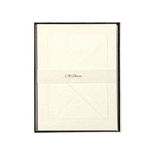 C.R. Gibson Boxed Letter Papers, Pack of 40, Vanilla (Gibson Paper)