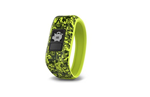 (Garmin vívofit jr, Kids Fitness/Activity Tracker, 1year Battery Life, Green, Digi Camo)