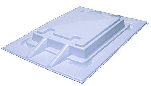 Knaus Dachhaube Kunststoff tiefgezogen 860 x 625 weiß
