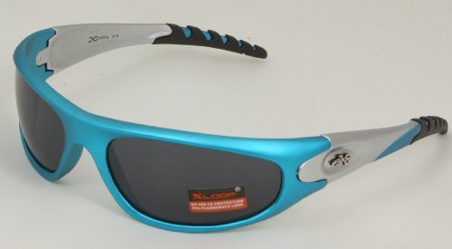X Loop Mens Wrap Running Triathalon Golf Sports Baseball Sunglasses xl875 (Orange w Silver)