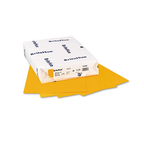 Gold 24 Lb Letter (Mohawk : Brite-Hue Color Copy/Laser/Inkjet Paper, Gold, 24lb, Letter, 500 Sheets -:- Sold as 2 Packs of - 500 - / - Total of 1000 Each)