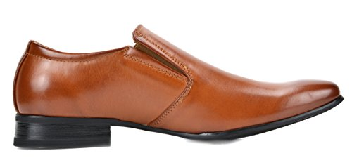 Bruno Marc Men's Gordon-07 Brown Leather Lined Dress Loafers Shoes Size 10.5 M US